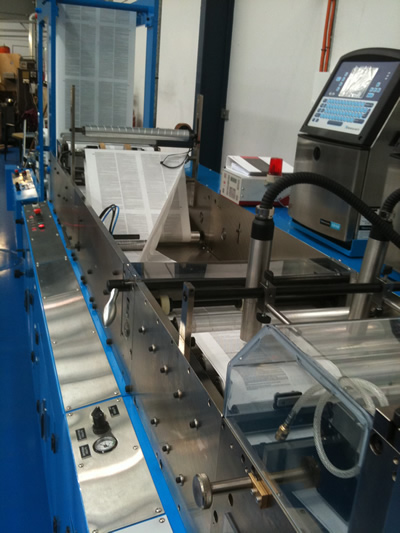 Plow folding machine